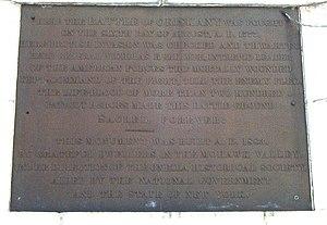 Oriskany Battlefield State Historic Site - Image: Oriskany Battlefield Monument Panel Text 2007
