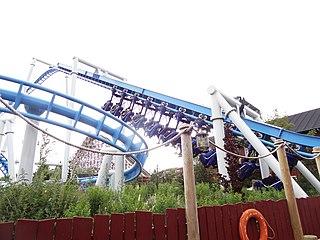 Orkanen Suspended family roller coaster at Fårup Summer Park
