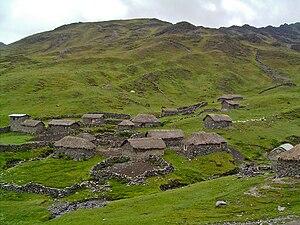Q'ero - A Q'ero village (February 2007)