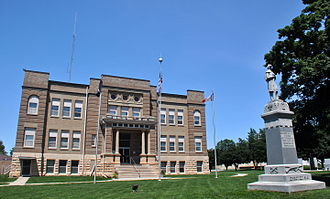 Osceola County Courthouse (Iowa) - Osceola County Courthouse, July 2014.