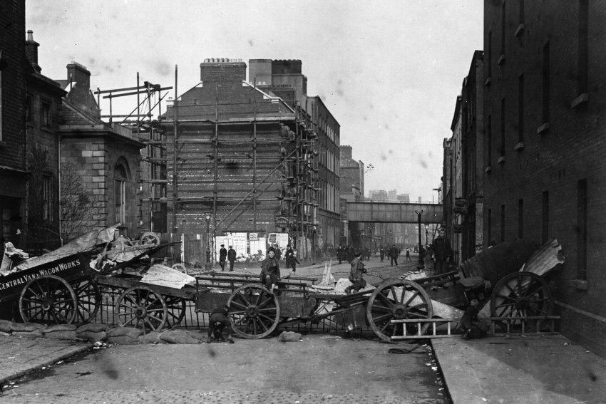 Osteraufstand - Dublin - Barrikade