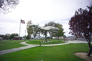 Othello, Washington - T-33 jet in Pioneer Park, Othello.