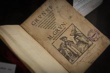 Grunnius sophistica (Exemplar aus der National- und Universitätsbibliothek Straßburg) (Quelle: Wikimedia)