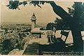 Ottoman clock tower in Plovdiv on old postcard.jpg