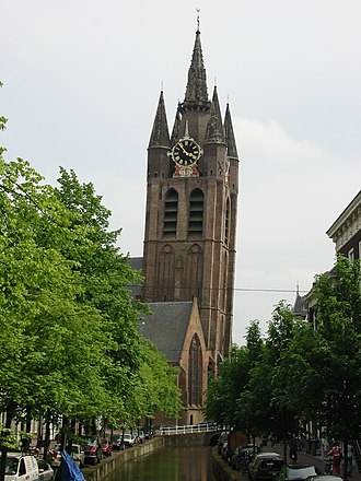 Oude Kerk (Delft) - The leaning tower