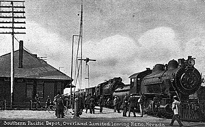 Reno, Nevada - The ''Overland Limited'' at Reno in 1913