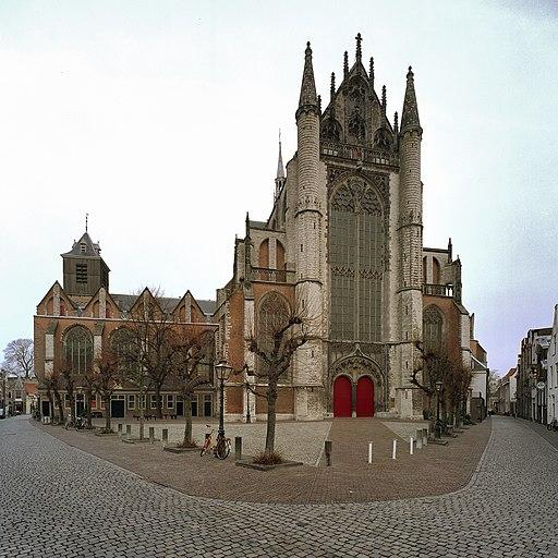 Overzicht zuidzijde met zuider transept - Leiden - 20372154 - RCE