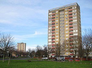 Blackbird Leys - Evenlode Tower, with Windrush Tower in the background
