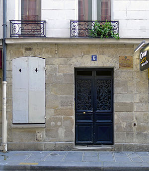 Jean-Baptiste Coffinhal - rue Le Regrattier 16, where Coffinhal lived in 1793 (plaque).
