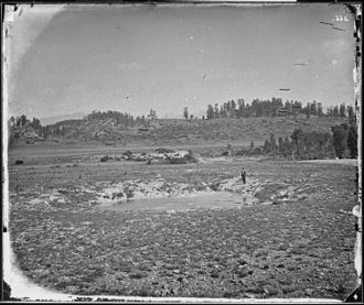 Pagosa Springs, Colorado - The springs for which the town was named, photographed in 1874