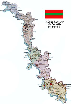 Outline of Transnistria - An enlargeable map of Transnistria