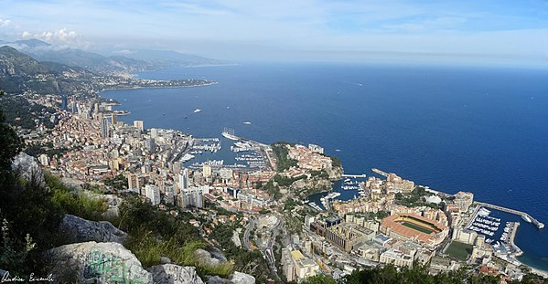 Monaco from the Tête de Chien