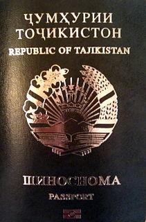 Tajik passport Passport issued to Tajik nationals