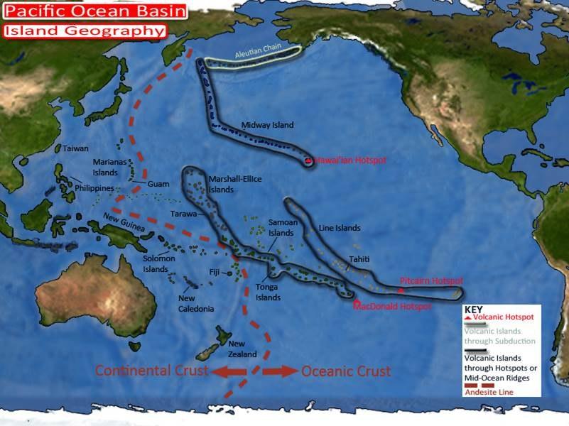 Pacific Basin Island Geography Hotspots