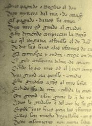 Page of Lay of the Cid