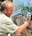 Painter David Brewster creating work for the Art of Action project.jpg