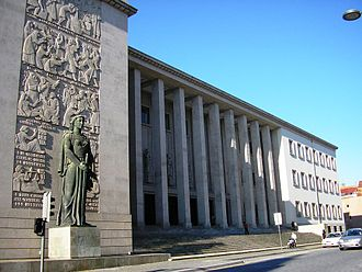 Judiciary of Portugal - The Palace of Justice of Oporto, seat of the Relação and of the Court of Justice of the Comarca of Oporto.
