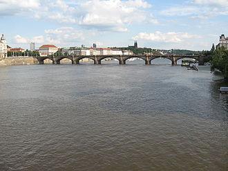 Palacký Bridge - Palacký Bridge, view from Jiráskův most