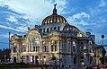 Palaco de Bellas Artes, Mexico City, from across Eje Central Lazaro Cardenas in evening.jpg