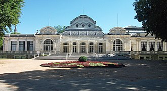 Vichy - The Opera in Vichy. In this building, the parliament of the French Third Republic decided to grant full powers to Marshal Philippe Pétain, thereby terminating the republican regime and inaugurating Vichy France (July 10, 1940).
