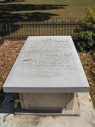 Bronson–Mulholland House - Image: Palaka Bronson grave 02