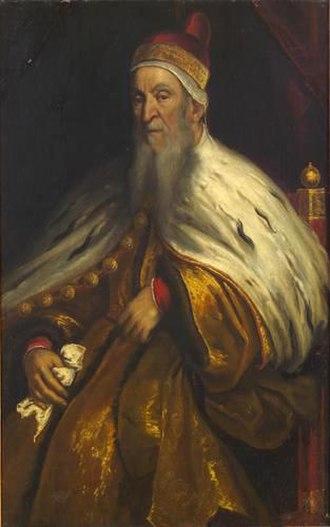 Nicolò da Ponte - Portrait of Nicolò da Ponte by Palma Giovane.