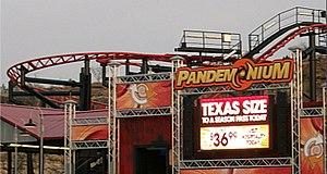 Pandemonium (roller coaster) - Image: Pandemonium at Fiesta Texas