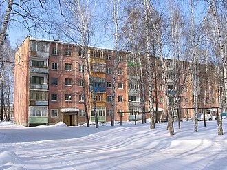 Functionalism (architecture) - Panel khrushchovka in Tomsk.