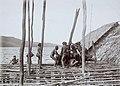 Papuans placing a house post for a pile house under construction - Collectie stichting Nationaal Museum van Wereldculturen - TM-60010046.jpg
