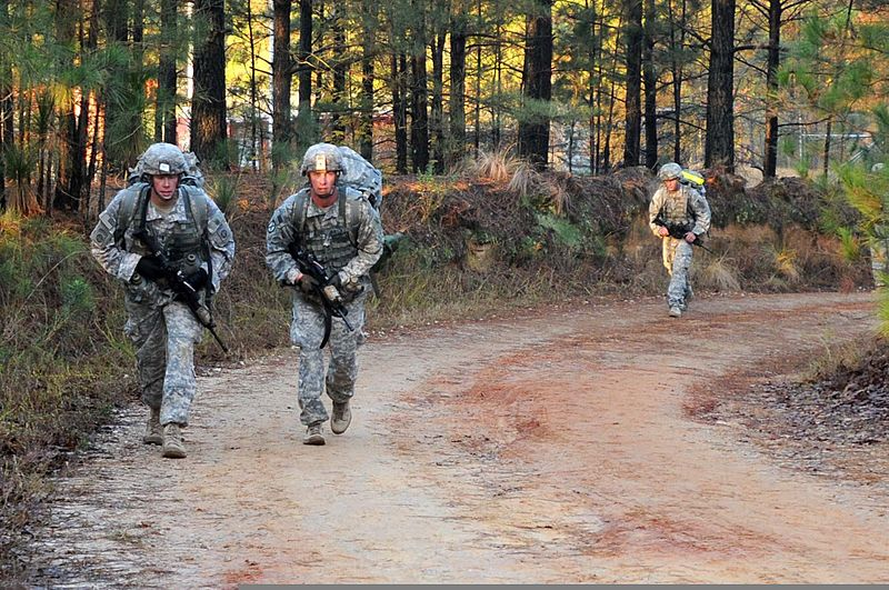 fileparatroopers with 2nd battalion 319th airborne field