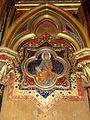 Paris (75), Sainte-Chapelle, chapelle basse, médaillon au revers de la façade 1.jpg