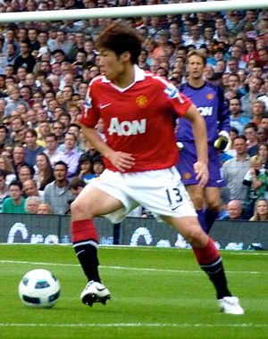 Park Ji-sung - Park during a match against Fulham on 22 August 2010