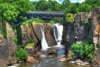 English: Great Falls of the Passaic River in P...