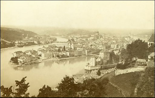 Passau 1892. old photo