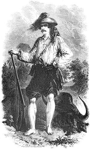 Paul de la Gironière - P. de la Gironière in hunting costume