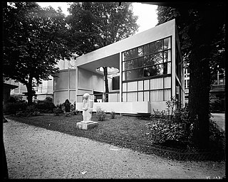 A model home designed by Le Corbusier and Pierre Jeanneret