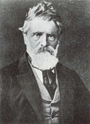 Peder Balke - Detail from a photograph by  Ludwik Szaciński (1844-1894)