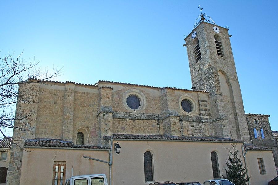 Péret (Hérault) - église Saint-Félix-de-Gérone.