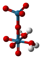 Ball-and-stick model of the perrhenic acid molecule