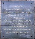 Petőfi híd újjáépítése emléktábla Budai hídfő Goldmann György tér.jpg