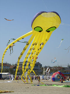 Inflatable single-line kite one of the few modern inventions in the world of kite design