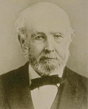 Peter Hardeman Burnett - Picture taken in his later years, when he served as president of Pacific Bank.
