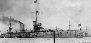 Russian battleship Petropavlovsk (1911) - Image: Petropavlovsk Helsingfors