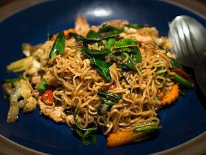 Drunken noodles - Image: Phat mama