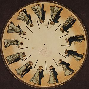 Animation - A phenakistoscope disc by Eadweard Muybridge (1893)