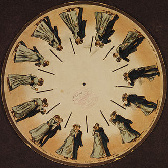 Eadweard Muybridge - A phenakistoscope disc by Muybridge (1893)