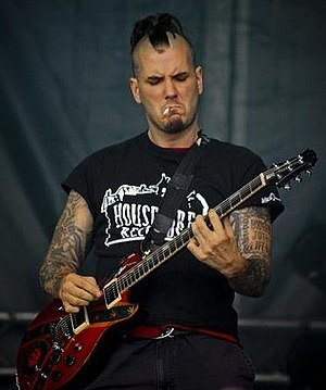 Phil Anselmo - Anselmo playing guitar for Eyehategod during Hellfest 2009