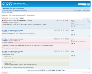 Topic (Thread) from phpBB