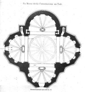 Santa Maria della Consolazione (Todi) - Image: Pianta.Consolazione. Todi