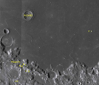 Picard (crater) - Satellite craters of Picard